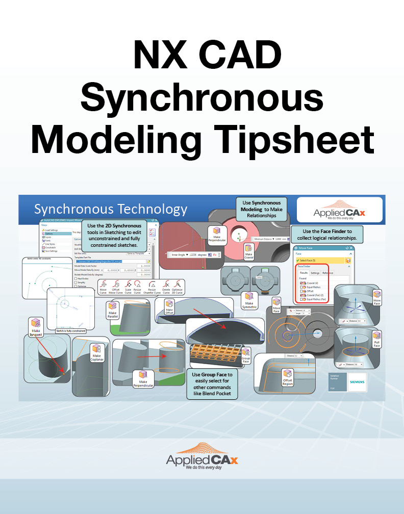 NX CAD Synchronous tipsheet