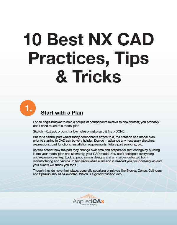 NX CAD tips