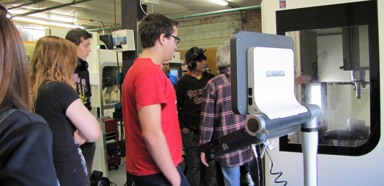 High school students tour Sherpa Design's engineering studio and machining facility [Slideshow]