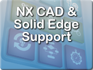 NX CAD and Solid Edge support