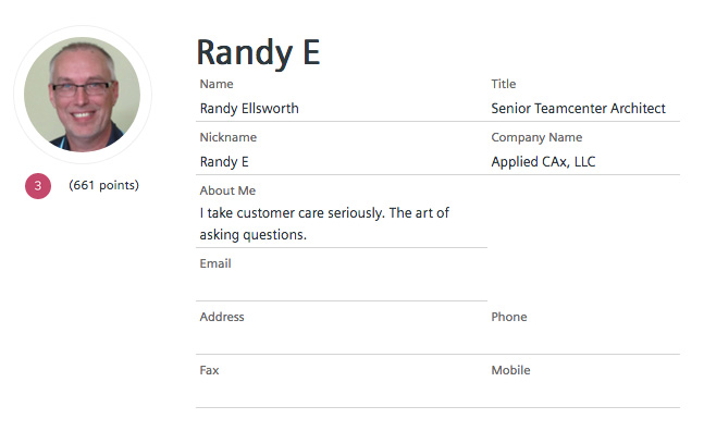 Randy Ellsworth Teamcenter