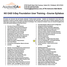 NX CAD training
